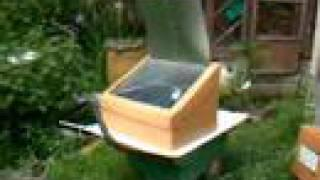 Slant faced solar oven, better view of it