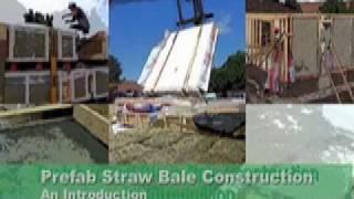 Prefabricated Straw Bale Wall Panels