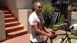 Folding 36v solar electric bicycle battery charging system 4