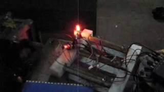 Free piston linear generator loading test