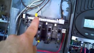 Evolution Of My DIY Solar Setup Control Panel 100 Amp QO Panel and Breakers Wiring