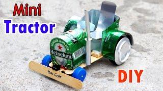How to Make a Electric Tractor - Wow! Amazing Mini Tractor Very Simple
