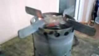 Homemade coil pipe alcohol stove - midi