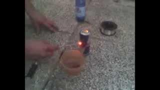 Test Cannello ad Idrogeno first HHO Hydrogen flame test