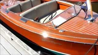 2007 Edison Marine EV classic wood electric powered boat