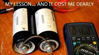 QUICK CHARGING a 1300 Farad Super Capacitor Bank - Experiment Gone Wrong....wmv