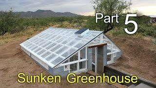 Sunken Greenhouse Part 5: Ventilation - Remington Solar, Wind Diversion