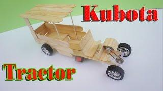 How To Make Electric Tractor ( KUBOTA ) - Toy Farming Machine DIY For Kids