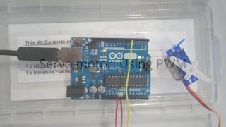 Arduino servo motor control using PWM