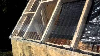 Mid completion solar kiln vid. Oct. 2012