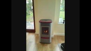 Ecoidro wood pellet boiler and Solar Tube array, Kilcormac, Co Offaly Ecoidro and EW Solar