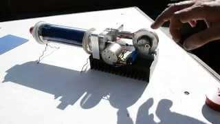 Solar evacuated mini tube & Stirling engine