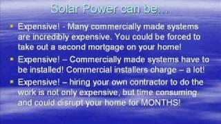 Solar Power House -DIY green, renewable solar energy. Ez project