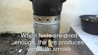 Rocket stove with pre heating