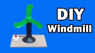 How to Make a Mini Windmill at Home - Free Energy Generator