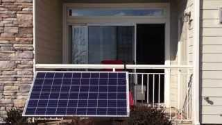 Small apartment balcony solar power setup (part 1)