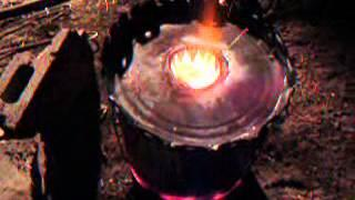 Quick, cheap, aluminum casting foundry made with 5-gallon metal buckets