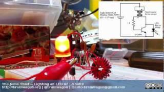 The Joule Thief -- Lighting an LED with 1.5 volts