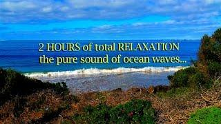 2 HOURS of relaxing OCEAN WAVES of AUSTRALIA