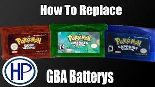 How To: Replace Battery in Pokemon GameBoy Advanced Games Fix Clock