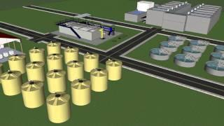Anaerobic Digestion Plant 3D Model Waste Water Treatment Plant