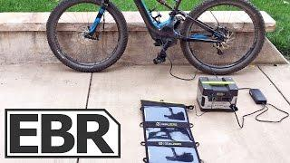 Goal Zero Yeti 400 Solar Generator Kit Video Review - Solar Charging an Electric Bike