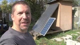 Off grid solar food dehydrator
