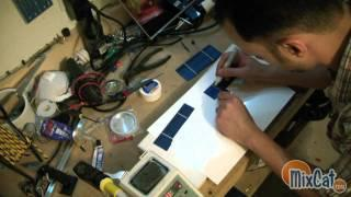 Broken LCD to Solar Panel recycling green DIY Project Part 1
