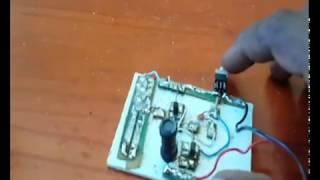 Joule thief circuit(lumiere)light led torch circuit test aquaponie