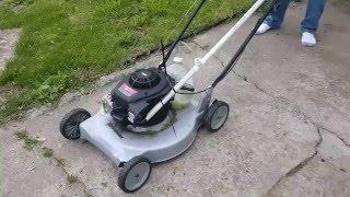 Gas vapor lawn mower. No joke,  it works but no gas savings.