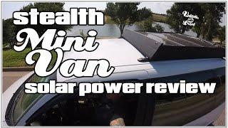 VAN LIFE- SOLAR REVIEW- STEALTH  MINI CAMPERVAN | VANTASTIC LIVING