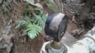 Testing the diy micro hydro turbine with 50lbs of pressure first time