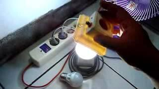 Joule Thief (JT) 3.7 VDC to 220 VAC