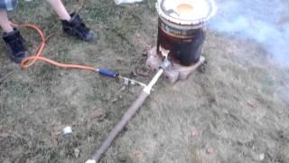 DIY propane foundry melting brass